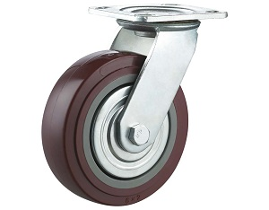 Swivel Polyurethane on Polypropylene Casters with Metal